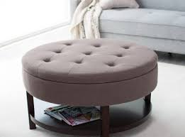 Black Leather Ottoman Coffee Tables Unbelievable Large Round Ottoman Coffee Table