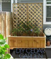 raised cedar garden planter tutorial inspiration for moms