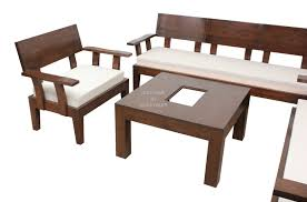 Exclusive  Trendy Sofa Set With Centre Table In Teakwood By Bic - Teak wood sofa set designs