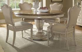 country dining room sets dual tone country dining set with drop leaf pedestal table