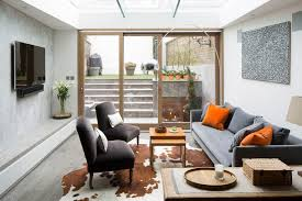 chelsea terrace house with basement contemporary living room
