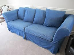 Denim Slipcover Sofa by Something For The Road Project Living Room Slipcover