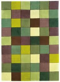 eden ed10 pixel green rug modern hand tufted