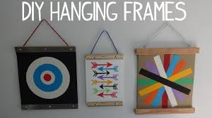 hanging picture frames ideas diy hanging wall art photo frame youtube intended for hanging
