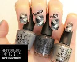 opi 50 shades of grey inspired bandage nails designs for short