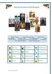 english worksheet film genres teaching english pinterest