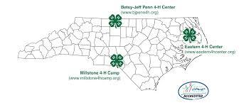 Nc State Map North Carolina 4 H Camps U0026 Centers North Carolina Cooperative
