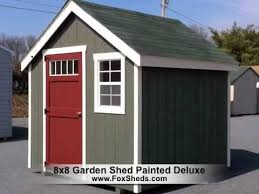 8x8 garden shed painted deluxe series youtube