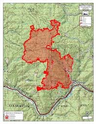 Wildfire Map August 2015 by Saturday Stranded Rafters Escorted Down From French Creek Idaho