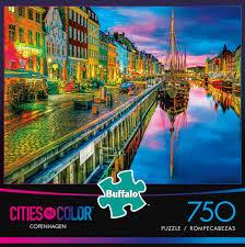 color spectrum puzzle cities in color copenhagen 750 piece jigsaw puzzle buffalo games