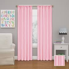 Pink Eclipse Curtains Eclipse Kendall 95 In L Bouquet Rod Pocket Curtain