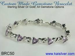 silver bracelet with stones images Custom bracelet high end custom made gemstone bracelets in jpg