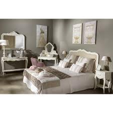 canapé romantique bout de canapé à tiroir amandine en bois patiné blanc