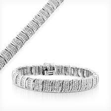diamond bracelet sterling silver images Sterling silver and diamond tennis and wheat chain bracelets jpg