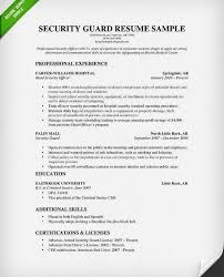 Sample Security Resume by Tremendous Security Guard Resume Sample 2 Cv Resume Ideas