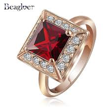 square style rings images European style square ring design vintage rose gold color red jpg