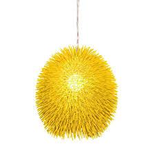 Yellow Light Fixture Varaluz Urchin 1 Light Un Mellow Yellow Pendant 169p01ye The