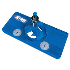 kitchen cabinet door hinge template concealed hinge jig kreg tool