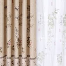 Striped Living Room Curtains by Chinese Style Bamboo Striped Living Room Curtains In Camel Buy