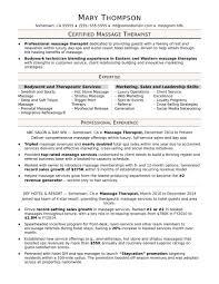 therapist resume sle therapy student exa