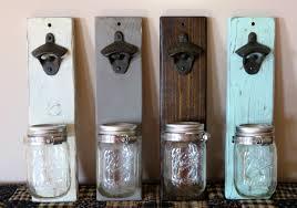 unique wall mounted bottle openers mason jar bottle opener beer bottle opener barware gift for
