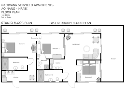 Garden Apartment Floor Plans Dimensioned Studio Apartment Blueprints