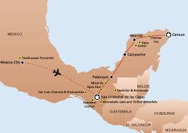 chiapas mexico map adventures holidays vacations tours individuals groups mexico