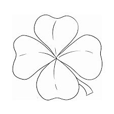 coloriage trèfle à quatre feuilles a imprimer gratuit