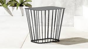 Wire Side Table Black Wire Side Table In Side Tables Reviews Cb2