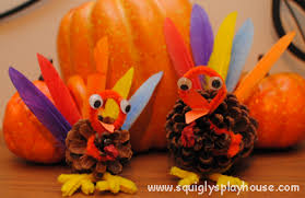 craft pine cone turkey