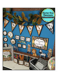 Monkey Classroom Decorations Jungle Safari Themed Classrooms Clutter Free Classroom
