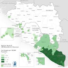 Liberia Africa Map by Who Ebola Maps