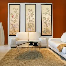 interior delectable oriental living room decoration with red