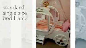 girls princess carriage bed white princess carriage bed youtube