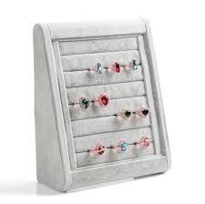 earring holder for studs high end grey wood velvet ring earrings stud mobile dust plugs