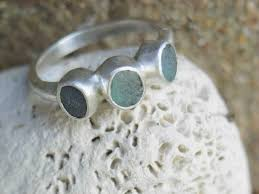 sea glass engagement rings sea glass jewellery handmade ethical wedding rings fairtrade