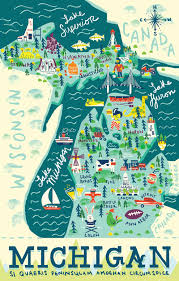 Grand Rapids Michigan Map by Michigan Map Julia Tran