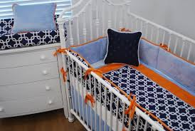 navy orange blue crib bedding illini homes pinterest blue