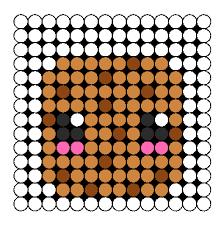 kawaii chocolate chip cookie perler bead pattern bead sprites