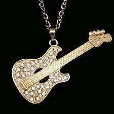 guitar pendant necklace images Gold guitar pendant necklace with long chain guitar exclusive jpg