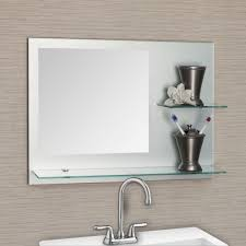 Brushed Nickel Mirror Bathroom by Bathroom Light Up Your Home With Frameless Beveled Mirror