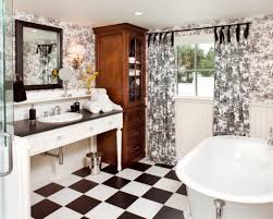 toile bathroom decor red bathroom with toile wallpaper country