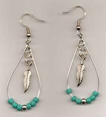 hoop beaded earrings seed bead and feather hoop earrings
