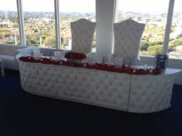 wedding rentals los angeles leather table rental los angeles king and chairs
