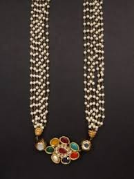 small pearl necklace images Moti necklaces navratan pearl necklace indianmyra jpg