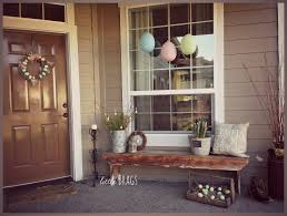 Outdoor Easter Decorations For The Home by Little Brags A Little Easter Decorating On The Front Porch