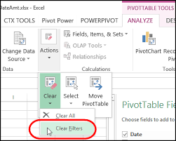 How To Do A Pivot Table In Excel 2013 Clear Excel Filters With A Single Click Contextures Blog