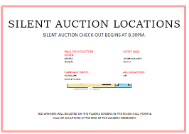 silent auction location display map 2 silent auction bid sheet