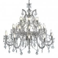 Marie Therese Crystal Chandelier Marie Therese Chrome 8 Light Chandelier With Crystal Drops