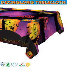 halloween tablecloth decorative plastic table overlays decorative plastic table